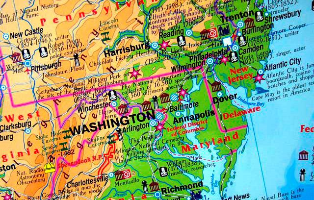 Все штаты на карте
